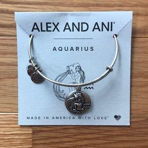 Alex and Ani Aquarius charm bangle bracelet